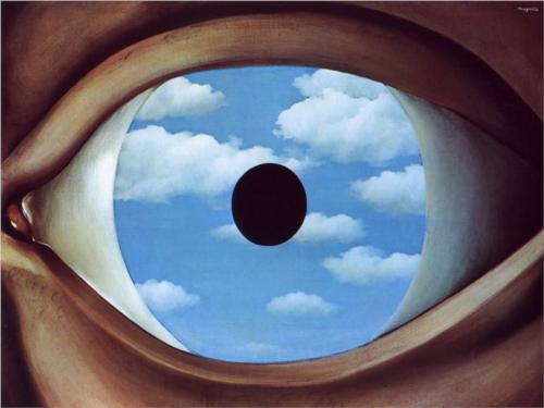 René Magritte | The False Mirror (1928), © 2014 C. Herscovici, Brussels